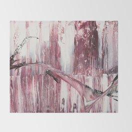 Pale pink Throw Blanket