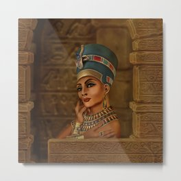 Nefertiti - Neferneferuaten the Egyptian Queen Metal Print