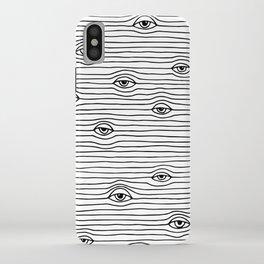 PEEPING TOM [BLK & WHT] iPhone Case