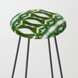 Palm Leaf Kaleidoscope (on white) #2 Counter Stool