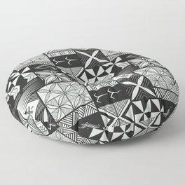 UrbanNesian Grey Siapo and Tatau Floor Pillow