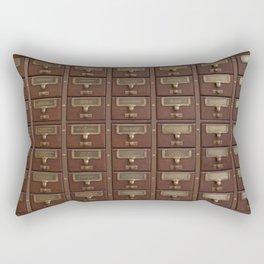 Vintage Library Card Catalog Drawers 2017 Calendar Rectangular Pillow