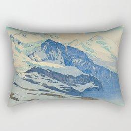 The Jungfrau Vintage Beautiful Japanese Woodblock Print Hiroshi Yoshida Rectangular Pillow