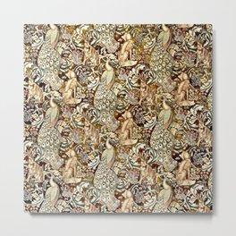 William Morris Forest Tapestry Pattern Metal Print