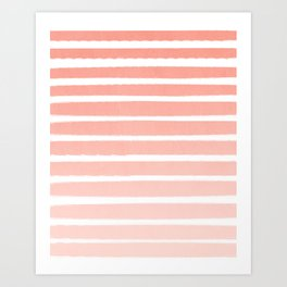 Stripes minimal ombre pattern basic nursery office dorm canvas wall art Art Print