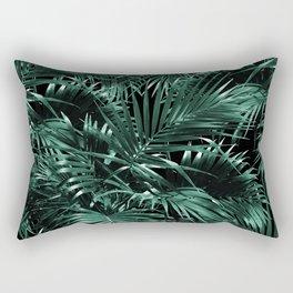 Tropical Palm Leaf Jungle Night #1 #tropical #decor #art #society6 Rectangular Pillow