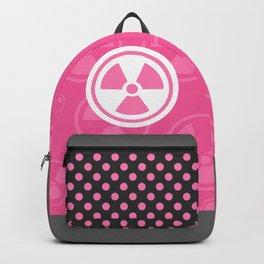 Pink Radioactive Symbol Backpack