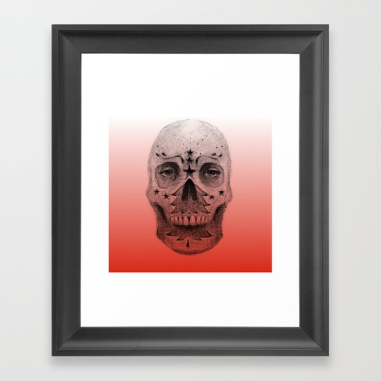 #34 - Christmas Tree Sugar Skull Framed Art Print