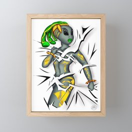 Tear Framed Mini Art Print