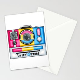 Pan Pride Pixel Camera Stationery Cards