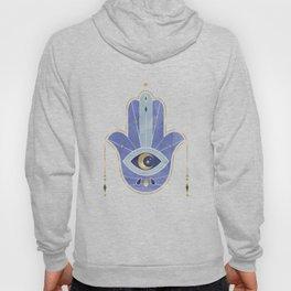 Hamsa Hand in Blue Hoody