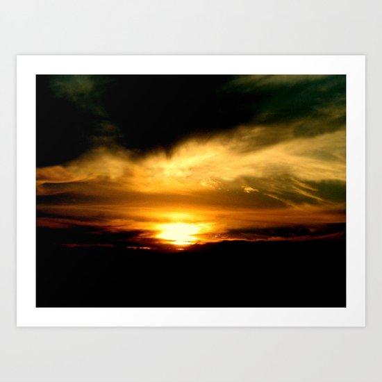 Yellow Sunset Art Print