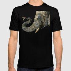 Elephant Cyril And Hummingbird Ayre MEDIUM Black Mens Fitted Tee