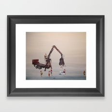 the shower Framed Art Print