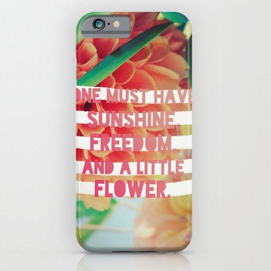 Sunshine//Freedom//Flower iPhone & iPod Case