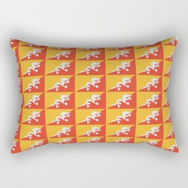 flag of bhutan 2-Bhutan, Himalaya, South Asia,Bhutanese, bhoutan, bhoutanais Rectangular Pillow