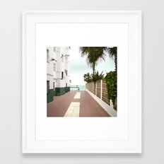Road to the Beach Framed Art Print