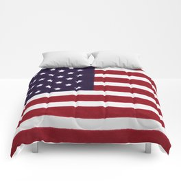 American flag with painterly treatment Comforters
