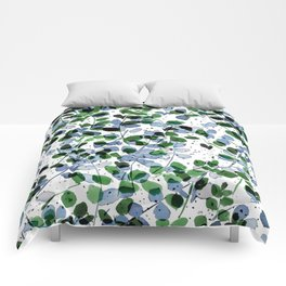 Synergy Blue and Green Comforters