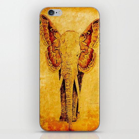 The elephant who wanted to be a butterfly iPhone & iPod Skin