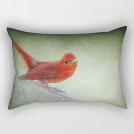 Song of the Summer Tanager 4 - Birds Rectangular Pillow