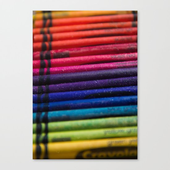 Crayons: Out of the Box! Canvas Print