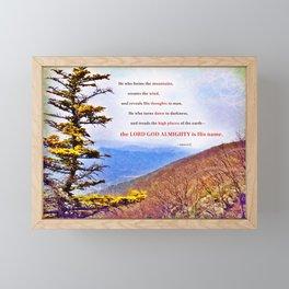High Places Framed Mini Art Print
