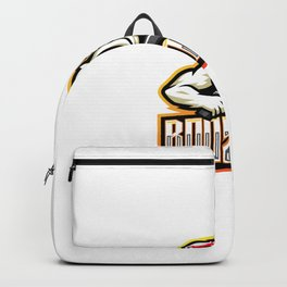 Rooster Gunner Esport Mascot Logo Design Backpack