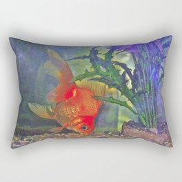 Diving Goldfish Rectangular Pillow