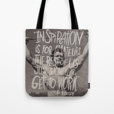CHUCK CLOSE Tote Bag