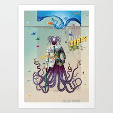 Mr Octapius Art Print