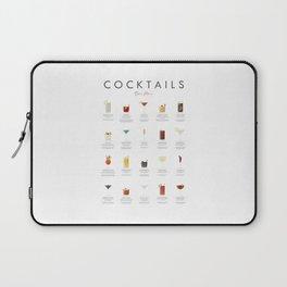 Cocktail Chart - Bar Menu Laptop Sleeve