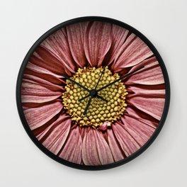 Distressed Petals fine art photography Wall Clock