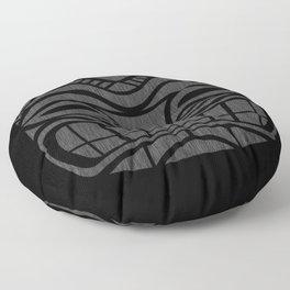 Tiki Black Cat Floor Pillow