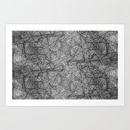 Pattern psychedelia Art Print