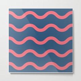 Flamingo Ocean Metal Print