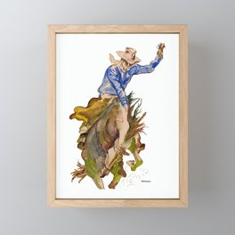 Ride em Cowboy by Peter Melonas Framed Mini Art Print