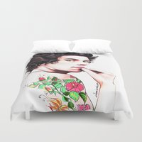 harry styles Duvet Covers featuring Harry Styles by dariemkova