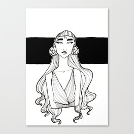 Pentacle Earrings Witch Canvas Print