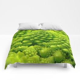 Macro Romanesco Broccoli Comforters