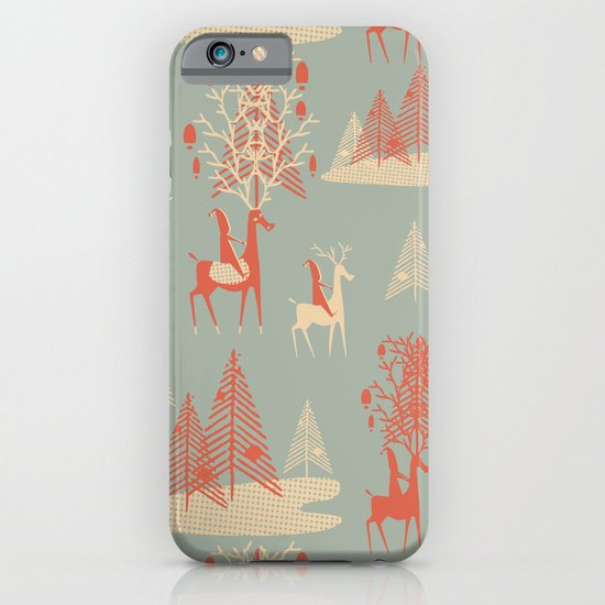Reindeer, Trees and Elves iPhone & iPod Case