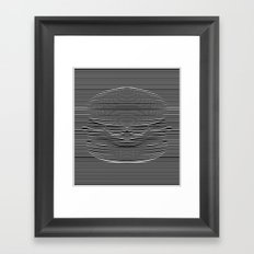 Cheeseburger Optical Illusion Framed Art Print