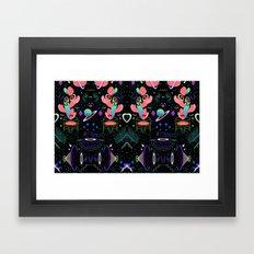 MOON / MOON / MOON Framed Art Print
