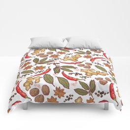 Spices pattern. Comforters