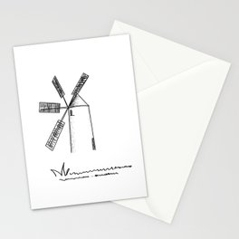 mill on white background Stationery Cards