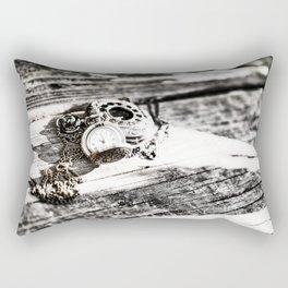 Pocket Watch Art Rectangular Pillow