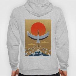 Mystical crane of eternal good luck Hoody