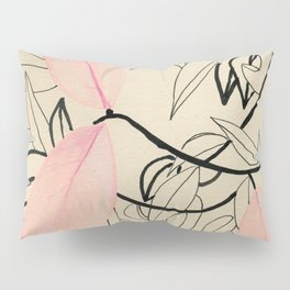 Line drawing leaves #2 Pillow Sham