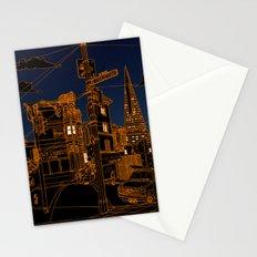 San Francisco! (Night, landscape version) Stationery Cards
