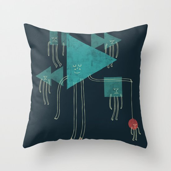 The Joy of Playing Throw Pillow